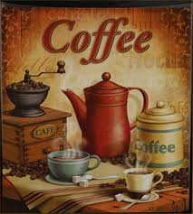 Cafe Latte Kitchen Decor Dishwasher Magnet Coffee Latte Country Kitchen Decor Bistro