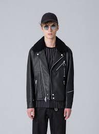 the arrivals men s clothing the arrivals black madsen modular leather biker jacket h66g2790