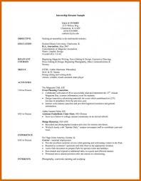 High School Resume For College Application Template Objectives