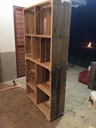 wooden pallet crate shelves