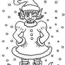 Small Picture Christmas girl elf coloring pages Hellokidscom