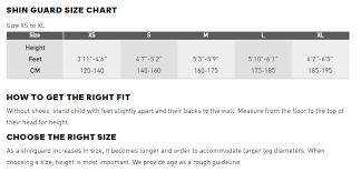 Adidas Shin Guard Size Chart Adidas Girls Size Chart Bedowntowndaytona Com
