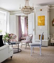 Ein Schwedisches Wohnzimmer Mit Kachelofen Christine