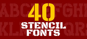 Stencil Fonts 40 Amazing Useful Stencil Fonts For Designers