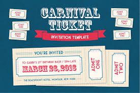 Invitation Ticket Template Carnival Ticket Invitation Template Invitation Templates 34