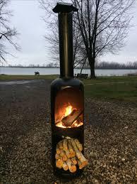 used propane tank fireplace