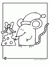 Small Picture Christmas Mouse Coloring Pages Animal Jr