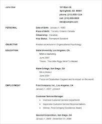 Simple Resume Formats Basic Resume Templates Free Basic Resume