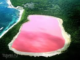 Розовое озеро Хильер в Австралии ru Чудеса света Розовое озеро Хильер расположено на одном из островов у берегов Западной Австралии Австралия