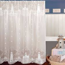 white lace shower curtain. Heritage Lace® Lighthouse Shower Curtain White Lace K