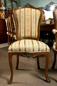 louis xv set of six side french dining room chairs style of linke