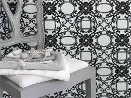Small Picture Black White Stripe Decorating Room Blossom Wallpaper Home Ideas