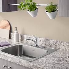 Shop KOHLER Staccato 22in X 25in SingleBasin Stainless Steel 25 X 22 Kitchen Sink