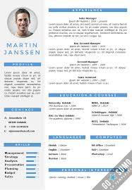 Resume Template For Word Enchanting CV Resume Template Helsinki Docxpptx GoSumo