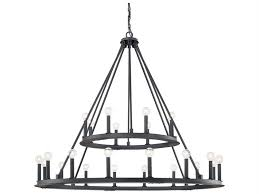 capital lighting pearson black iron 24 light 48 wide chandelier 4910bi