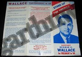 Campaign Brochure Details About George Wallace For President 1968 Pictorial Campaign Brochure Alabama Governor