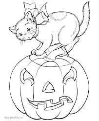 Small Picture Halloween Coloring Pages With Cats Cat And Kitten Coloring Pages