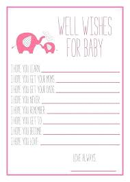 Wishes For Baby Template Baby Shower Gift Wish List Template Sample Wishes For Free Printable