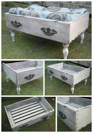 diy ideas for old chest of drawers. voodoo molly vintage - repurposed dresser drawer into pet bed.love this idea,could also be turned a coffee table! diy ideas for old chest of drawers n