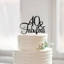 40 Menakjubkan Birthday Cake Topper 40th Birthday Cake Topper