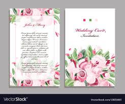 Wedding Card Template Floral Design