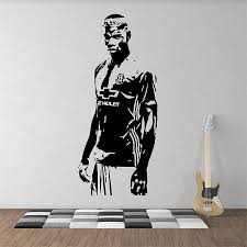 on manchester united wall art with paul pogba football soccer manchester utd vinyl wall art decal