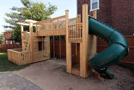 outdoor playset plans building