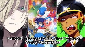 New Anime Chart Fall 2016 Seasonal Anime Chart Tv New Youtube