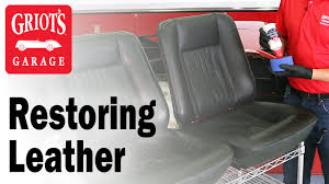 griot s garage how to bring old leather seats back to life