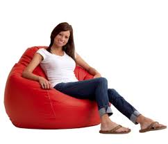 small ruby red bean bag chair for s