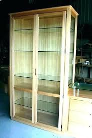modern display cabinets with glass doors corner cabinet door black