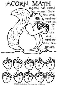Coloring Pages: File Name : Preschool Kindergarten Math Acorns.jpg ...