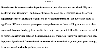 Results Section Of Psychology Research Paper