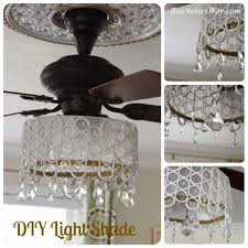 little brick house ceiling fan makeover really encourage diy chandelier combo pertaining to 12