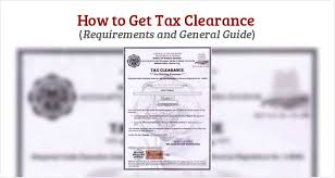 How To Get Tax Clearance Philippine Clearances