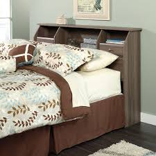 Sauder Bedroom Furniture Shelf Headboard Queen Sauder Oak Bookcase Headboard Queen Wood