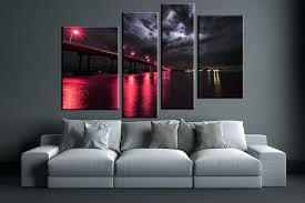 multi piece canvas wall art 4 piece canvas wall art city artwork city bridge wall art multi piece canvas  on 3 piece wall art canada with multi piece canvas wall art sea star ii 3 piece canvas wall art 3