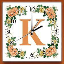 rose ceramic 8 inch wall clock that is