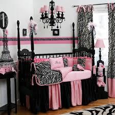 image of modern zebra crib bedding