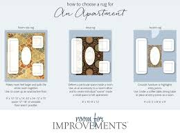 rug size for dining room table how to choose a rug for an apartment rug size