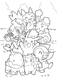 Small Picture Pokemon Coloring Pages Pdf esonme