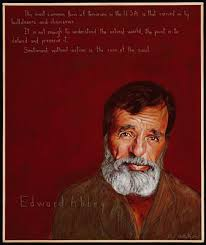 edward abbey americans who tell the truth edward abbey portrait by robert shetterly