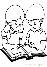 Small Picture Coloring Pages Girl Reading Coloring Pages