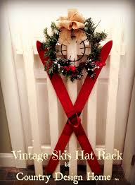 Vintage Ski Coat Rack DIY vintage ski coat rack Country Design Home 83
