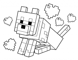 Minecraft Coloring Pages Creeper Colouring To Fancy Draw Pict With