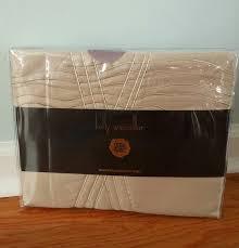 kelly wearstler sline oatmeal queen flat sheet 100 cotton sateen 500 tc new