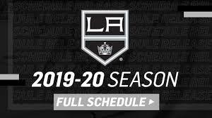 La Kings Staples Seating Chart La Kings Announce Entire 2019 20 Regular Season Schedule