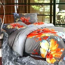 orange and grey comforter sets orange and gray bedding sets watercolor orange red fl dark gray