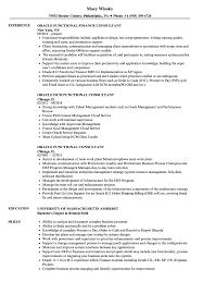 Techno Functional Consultant Sample Resume Oracle Functional Consultant Resume Samples Velvet Jobs 19