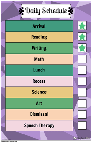 Make A Routine Chart Daily Routine Chart Template